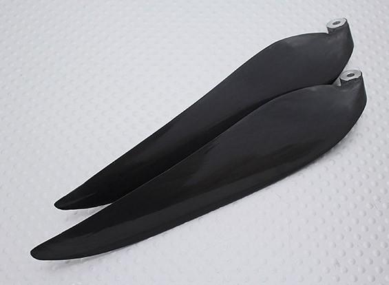 Pieghevole carbonio Infuso Elica 12x8 nero (CCW) (1pc)