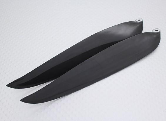 Pieghevole carbonio Infuso Elica 14x8 nero (CCW) (1pc)