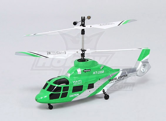 HK188 - 2.4Ghz scala coassiale Rescue Helicopter w / LED - M2