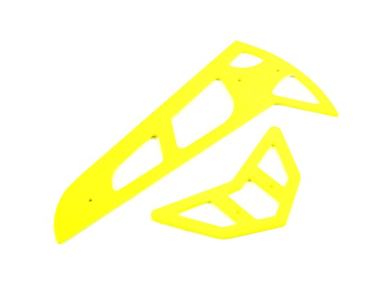 Neon Yellow vetroresina orizzontale / verticale Pinne Trex 600
