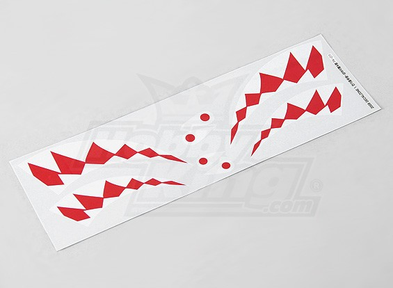 P-40 Stile Shark Bocca Sticker Set