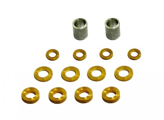 Gaui 100 e 200 Mini Spacer & Brass Rondella Confezione di ricambio