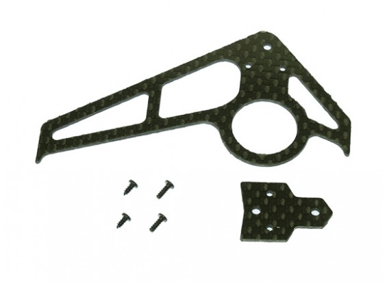 Gaui 100 & 200 Dimensioni CF Fin & Tail A-Type Nero (203.601)