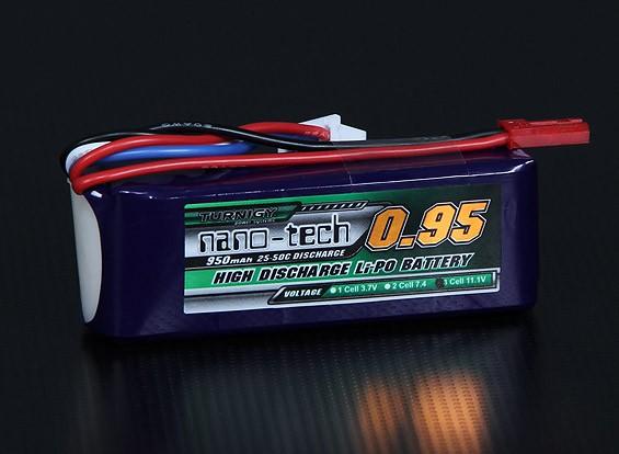 Turnigy nano-tech 950mAh 3S 25 ~ 50C Lipo Confezione