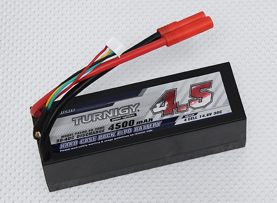 Turnigy 4500mAh 4S 30C Hardcase Pack (ROAR APPROVATO) (DE Warehouse)