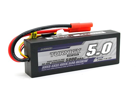 Turnigy 5000mAh 2S1P 7,4V 30C Hardcase Pack (ROAR APPROVATO) (DE Warehouse)