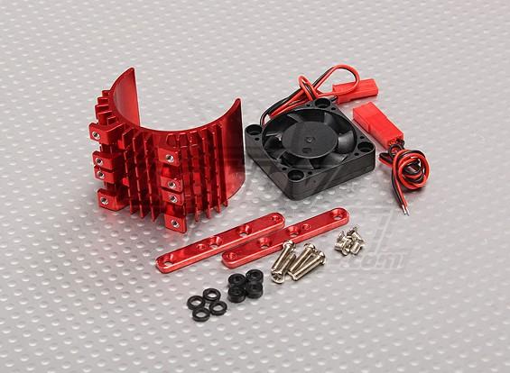 Motore dissipatore di calore w / ventola in alluminio rosso (36mm)