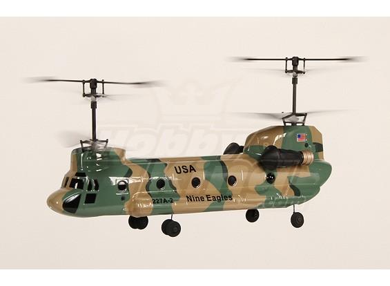 227A Twingo 2.4GHz coassiale tandem elicottero w / 2.4Ghz Tx (verde)