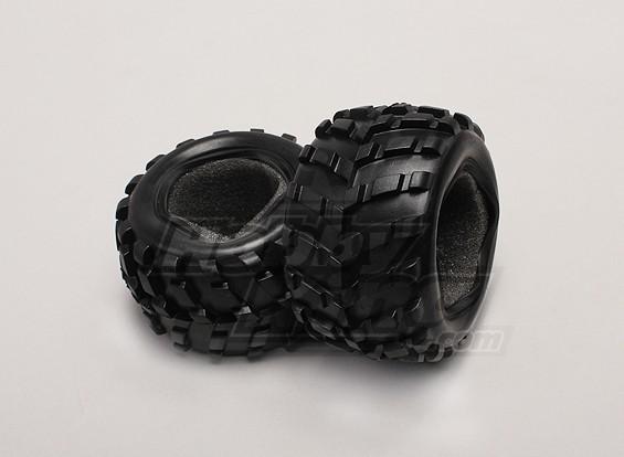 Pneumatici w / Foam Inserti (2pcs / bag) - 1/18 4WD RTR Breve Truck Corso