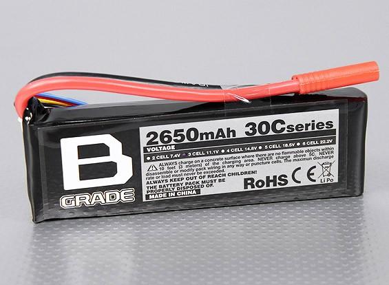 B-Grade 2650mAh 3S 30C Lipoly Batteria