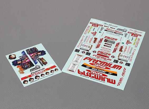 Auto Sticker Foglio Adesivo - 2010 D1 1/10 Scala
