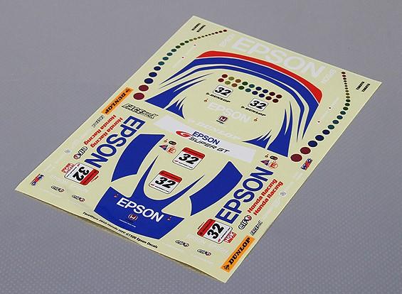 Auto Sticker Foglio Adesivo - Epson HSV 2010 1/10 Scala