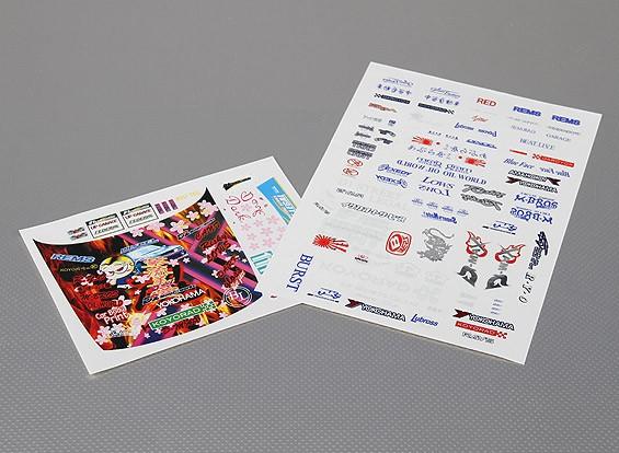 Auto Sticker Foglio Adesivo - D-Max D1 1/10 Scala