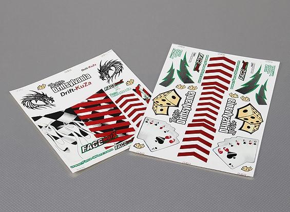 Auto Sticker Foglio Adesivo - Las Vegas-Drift 1/10 Scala