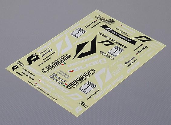 Auto Sticker Foglio Adesivo - NFD Drift squadra 1/10