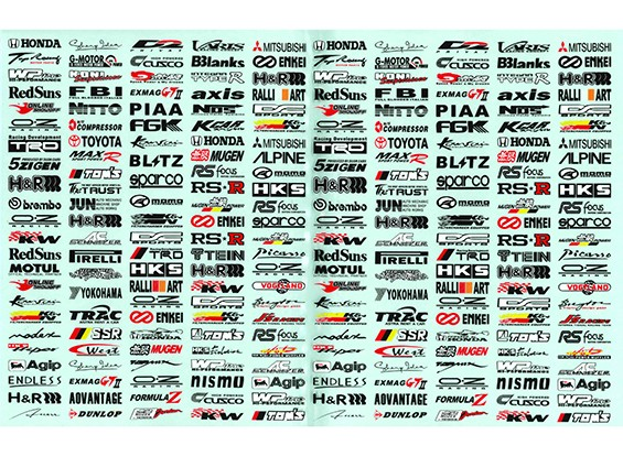 Auto Sticker Foglio Adesivo - Decoration logo 1/10 Scala