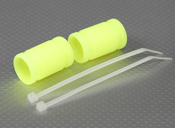 Silicone 40x15mm scarico accoppiatore (giallo) (2Pcs / Bag)