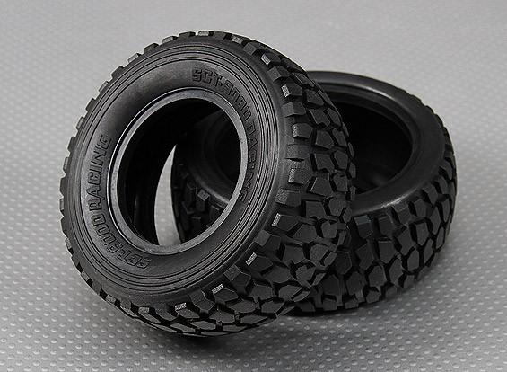 Tire 1/10 Turnigy 4WD Brushless Breve camion da golf (2pcs / bag)