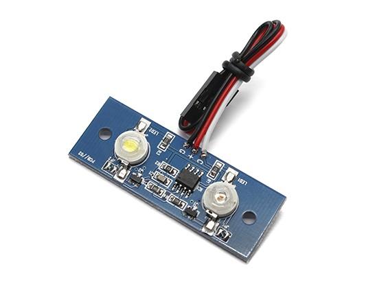 Due LED PCB Strobe Rosso e continuo Bianco 3.3 ~ 5.5V
