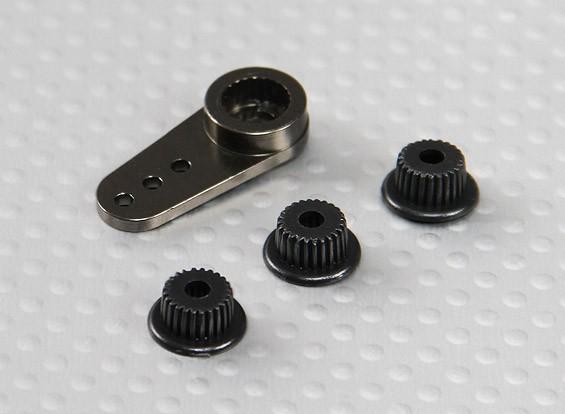 Alluminio unidirezionale universale Servo Arm - JR, Futaba e HITEC (Gunmetal)