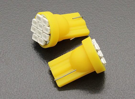 Luce del cereale LED 12V 1.5W (10 LED) - Giallo (2 pezzi)