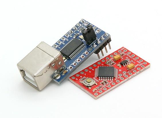 Kingduino Pro Mini microcontroller 3.3V / 8 MHz w / Mini USB Adapter