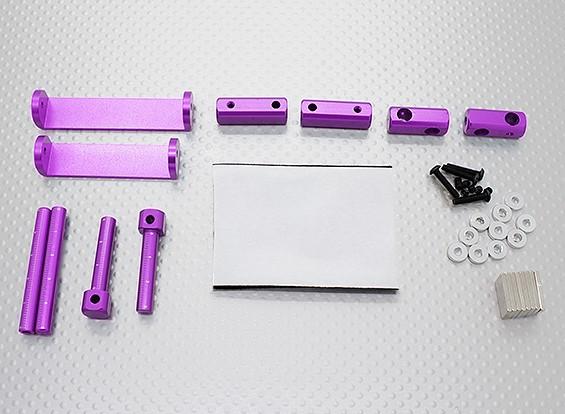 1/8 auto magnetica corpo set di montaggio (viola)