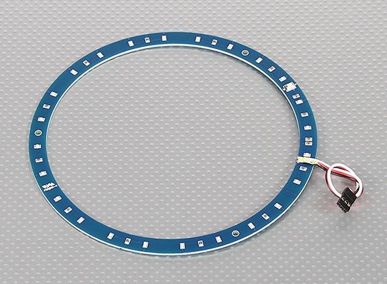 Anello LED 165 millimetri blu w / 10 modalità selezionabili