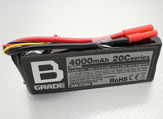 B-Grade 4000mAh 3S 20C Lipoly Batteria