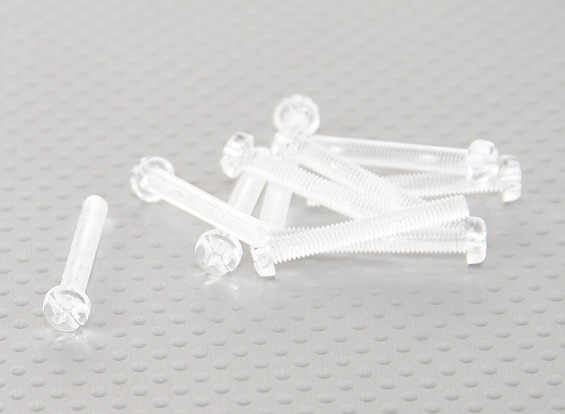 Viti policarbonato trasparente M4x30mm - 10pcs / bag