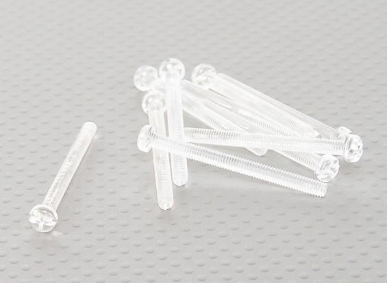 Viti policarbonato trasparente M4x45mm - 10pcs / bag
