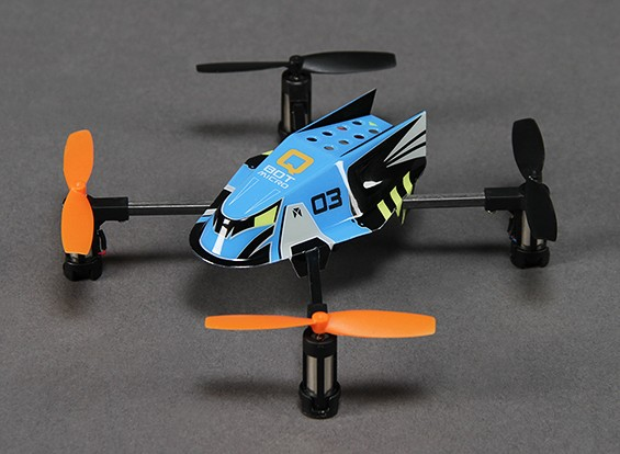 Q-BOT Micro Quadcopter w / 2.4 GHz RF Module (Spektrum / JR / Futaba compatibile)