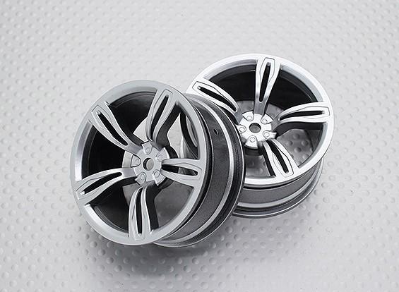 Scala 1:10 di alta qualità Touring / Drift ruote RC auto 12mm Hex (2pc) CR-M5S