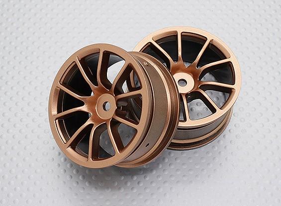 Scala 1:10 di alta qualità Touring / Drift Wheels RC 12 millimetri Hex (2pc) CR-12CG