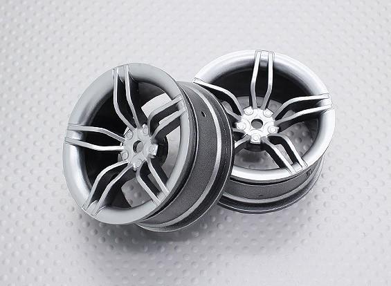 Scala 1:10 di alta qualità Touring / Drift Wheels RC 12 millimetri Hex (2pc) CR-FFS
