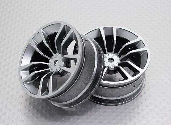 Scala 1:10 di alta qualità Touring / Drift Wheels RC 12 millimetri Hex (2pc) CR-DBSS