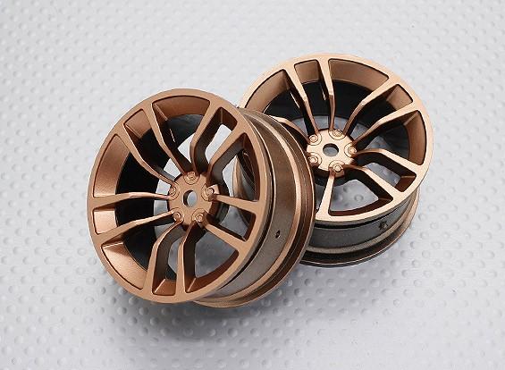 Scala 1:10 di alta qualità Touring / Drift Wheels RC 12 millimetri Hex (2pc) CR-DBSG
