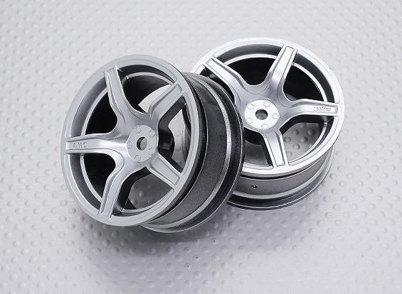 Scala 1:10 di alta qualità Touring / Drift ruote RC auto 12mm Hex (2pc) CR-C63S