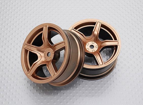 Scala 1:10 di alta qualità Touring / Drift Wheels RC 12 millimetri Hex (2pc) CR-C63G