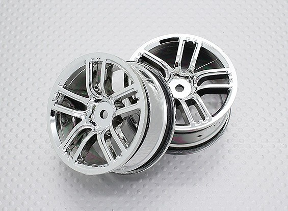 Scala 1:10 di alta qualità Touring / Drift Wheels RC 12 millimetri Hex (2pc) CR-GTC