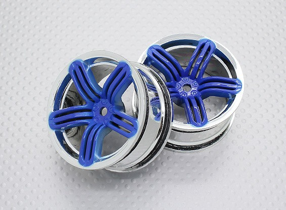 Scala 1:10 di alta qualità Touring / Drift Wheels RC 12 millimetri auto Hex (2pc) CR-RS6B