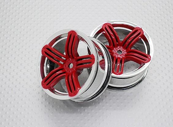 Scala 1:10 di alta qualità Touring / Drift Wheels RC 12 millimetri auto Hex (2pc) CR-RS6R