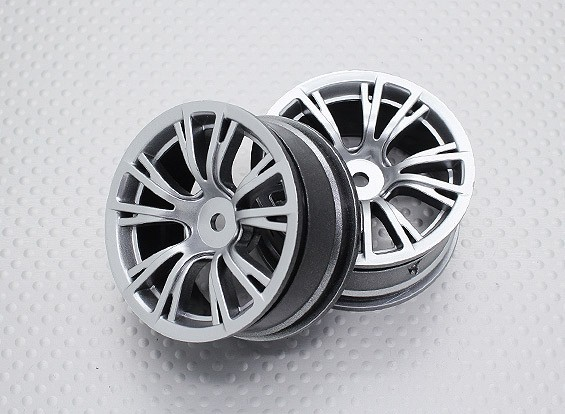 Scala 1:10 di alta qualità Touring / Drift Wheels RC 12 millimetri Hex (2pc) CR-BRS