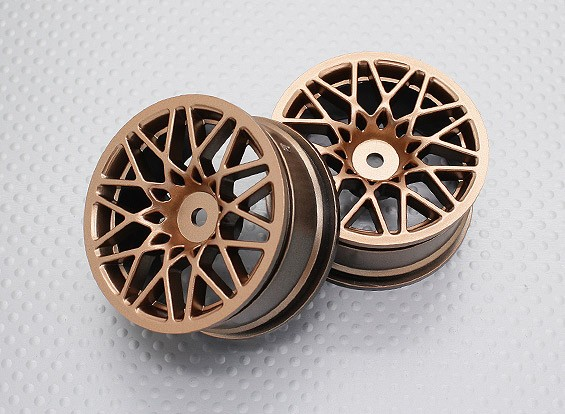 Scala 1:10 di alta qualità Touring / Drift Wheels RC 12 millimetri Hex (2pc) CR-LBG