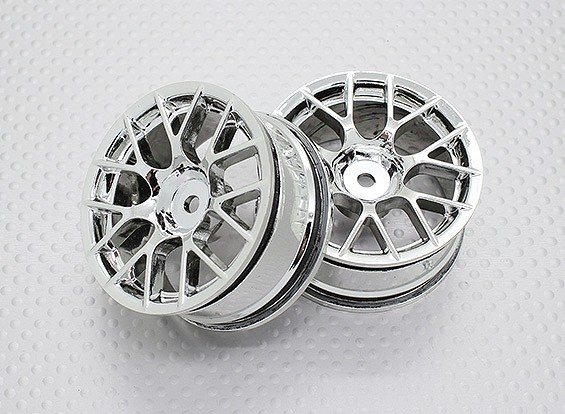 Scala 1:10 di alta qualità Touring / Drift Wheels RC 12 millimetri Hex (2pc) CR-CHC