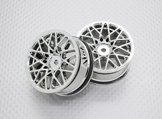 Scala 1:10 di alta qualità Touring / Drift Wheels RC 12 millimetri Hex (2pc) CR-LBC