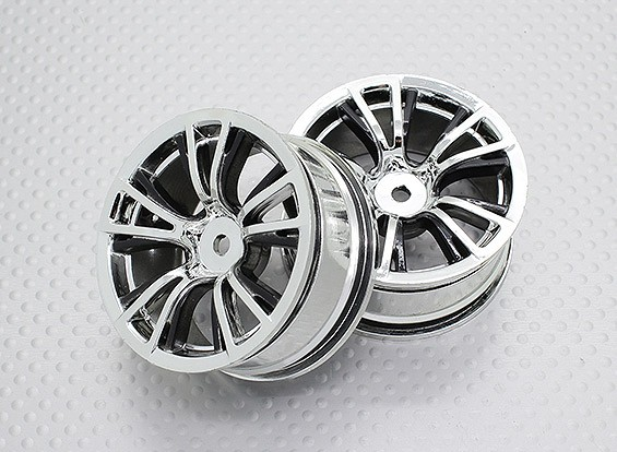 Scala 1:10 di alta qualità Touring / Drift Wheels RC 12 millimetri Hex (2pc) CR-BRB