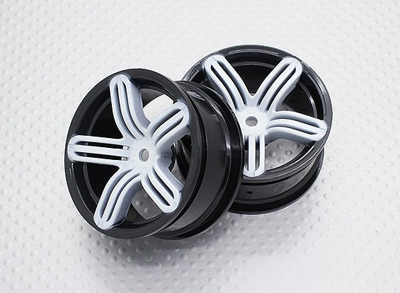 Scala 1:10 di alta qualità Touring / Drift Wheels RC 12 millimetri Hex (2pc) CR-RS6SW