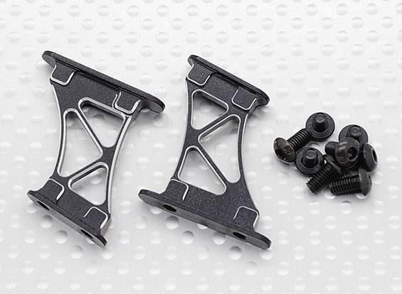 1/10 di alluminio di CNC Tail / Supporto Ala Frame-Medium (Nero)