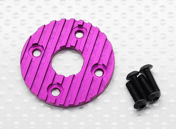 Di alluminio di CNC del motore del dissipatore di calore del piatto 36 millimetri (viola)